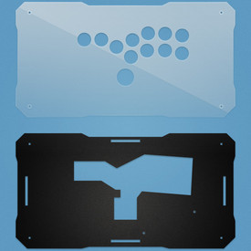 BNB Clear/Black Matte Plexi Fightstick Replacement Panel - All Button