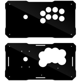BNB Fightstick Black Gloss Plexi Replacement Panel - Sega 2P Extended