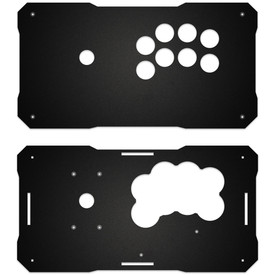 BNB Fightstick Gen 1 Black Matte Plexi Replacement Panel - Sega 2P Extended
