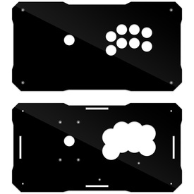 BNB Black Gloss Plexi Fightstick Replacement Panel - All 24 Button