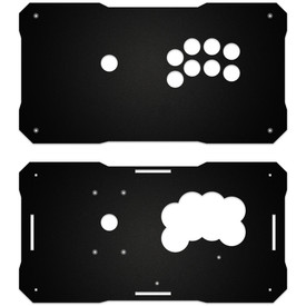 BNB Black Matte Plexi Fightstick Replacement Panel - All 24mm Button
