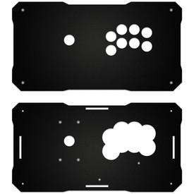 BNB Fightstick Gen 1 Black Matte Plexi Replacement Panel - All 24mm Button