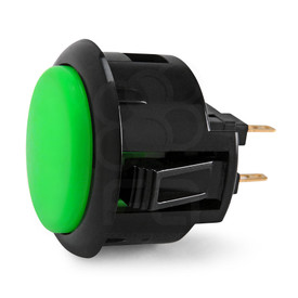 Black Rim Sanwa OBSF 30mm Pushbutton Green / Black