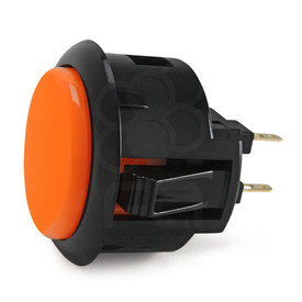 Black Rim Sanwa OBSF 30mm Pushbutton Orange / Black