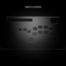 Blank Plexi Cover for Hori RAP N Shiokenstar Replacement Panel