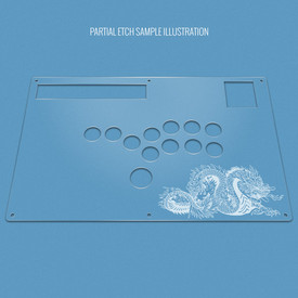 Custom Etch Plexi Cover for Hori RAP N Stickless Replacement Panel