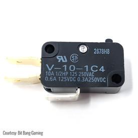 "Omron V-10-1C4 .250"" 100gf Microswitch for Shuriken JLF PCB"