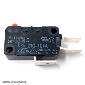 "Omron D3V-21G-1C4A .250"" 125gf Microswitch for Shuriken JLF PCB"