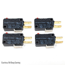 "Omron D3V-6G-1C3 .250"" 50gf Microswitch for Shuriken JLF PCB (4-Pak)"