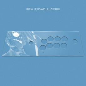 Custom Etch Plexi Cover for Hori RAP V3-SA VX-SA