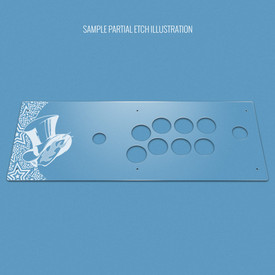 Custom Etch Plexi Cover for Hori RAP V (Japan Import)