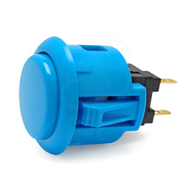 Sanwa OBSF 24mm Pushbutton Light Blue
