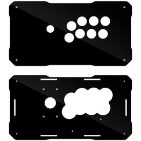 BNB Fightstick Gen 2 Black Gloss Plexi Replacement Panel - Vewlix 8
