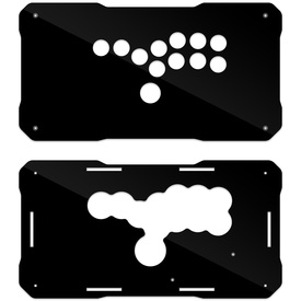BNB Fightstick Gen 2 Black Gloss Plexi Replacement Panel - All Button Layout
