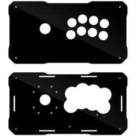 BNB Fightstick Gen 2 Black Gloss Plexi Replacement Panel - Korean Noir 8 Layout
