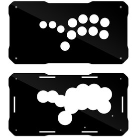 BNB Fightstick Gen 2 Black Gloss Plexi Replacement Panel - Shiokenstar Layout