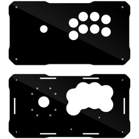 BNB Fightstick Gen 2 Black Gloss Plexi Replacement Panel - Sega 2P Extended