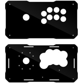 BNB Fightstick Gen 2 Black Gloss Plexi Replacement Panel - Korean Sega 2P Extended