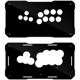BNB Fightstick Gen 2 Black Gloss Plexi Replacement Panel - WASD Layout