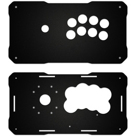 BNB Fightstick Gen 2 Black Matte Plexi Replacement Panel - Noir 8 Layout