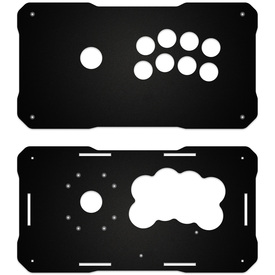 BNB Fightstick Gen 2 Black Matte Plexi Replacement Panel - Korean Noir 8 Layout