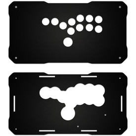 BNB Fightstick Gen 2 Black Matte Plexi Replacement Panel - All Button Layout