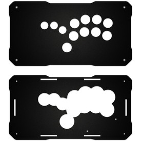 BNB Fightstick Gen 2 Black Matte Plexi Replacement Panel - Shiokenstar Layout