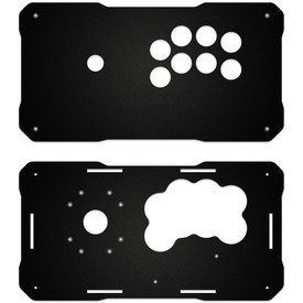 BNB Fightstick Gen 2 Black Matte Plexi Replacement Panel - Sega 2P Extended
