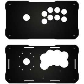 BNB Fightstick Gen 2 Black Matte Plexi Replacement Panel - Korean Sega 2P Extended