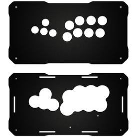 BNB Fightstick Gen 2 Black Matte Plexi Replacement Panel - WASD Layout