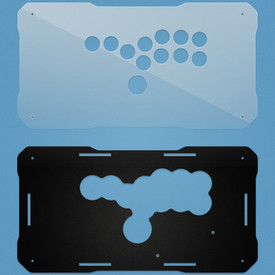 BNB Fightsticks Gen 2 Clear/Black Matte Plexi Replacement Panel - All Button