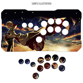 Artwork Print and Cut for BNB Fightstick Gen 2 Shiokenstar Panel