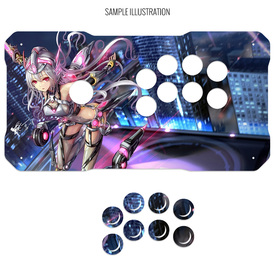 Artwork Print and Cut for BNB Fightstick Gen 2 Sega 2P Extended Korean Lever Panel