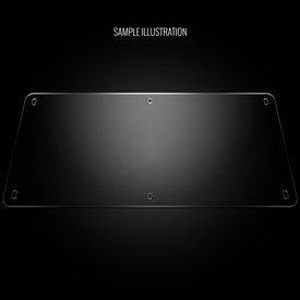 "Blank Plexi Cover for AllFightSticks 18"" Standard Solid Bottom Panel"