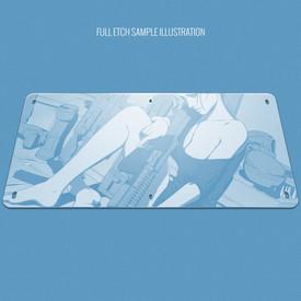 "Custom Etch Plexi Cover for AllFightSticks 18"" Standard Solid Bottom Panel"