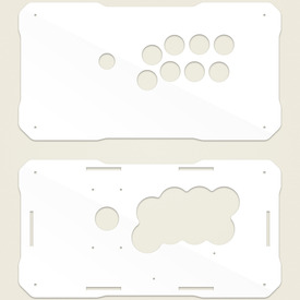 BNB Fightstick Gen 2 White Gloss Plexi Replacement Panel - Vewlix 8