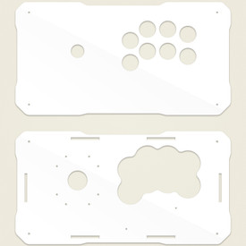 BNB Fightstick Gen 2 White Gloss Plexi Replacement Panel - Sega 2P Extended