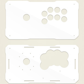 BNB Fightstick Gen 2 White Gloss Plexi  Replacement Panel - Korean Sega 2P Extended