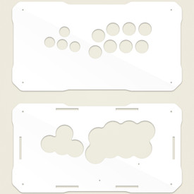 BNB Fightstick Gen 2 White Gloss Plexi Replacement Panel - WASD Layout