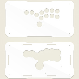 BNB Fightstick Gen 2 White Gloss Plexi Replacement Panel - All Button