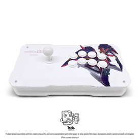 BNB Fightstick Gen 2 White Matte/Clear Plexi Kit