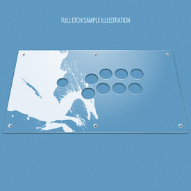 Custom Etch Panel for MadCatz EGO, Dragonslay, GameSir, LeEco, and Gorilla Gaming Pro Fightstick