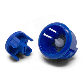 Sanwa OBSFE Silent 30mm Pushbuttons: Marine Blue