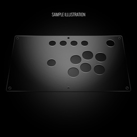 Blank Plexi Cover for Sega Virtua Stick High Grade Panel