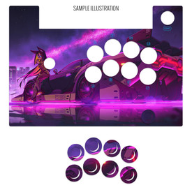 Artwork Print and Cut for Hori Fightstick Alpha