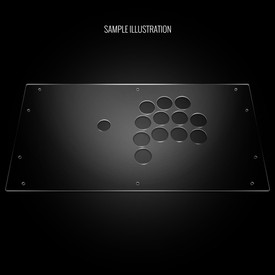 Blank Plexi Cover for HitBox™ Cross|Up