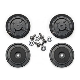 40mm Black Aluminum Anti-Slip Joystick Case Feet (Set of 4)
