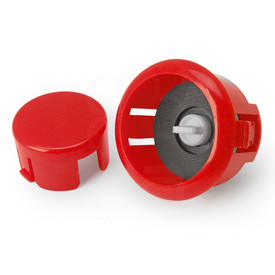 Sanwa OBSFS Silent 30mm Pushbuttons: Dark Red