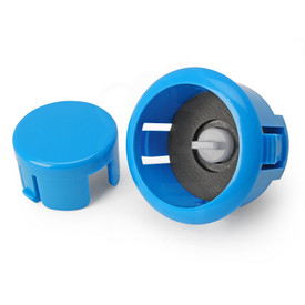 Sanwa OBSFS Silent 30mm Pushbuttons: Light Blue