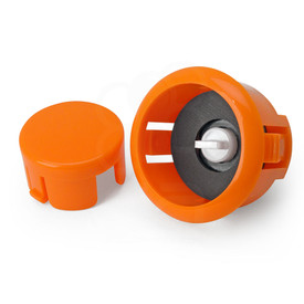Sanwa OBSFS Silent 30mm Pushbuttons: Orange
